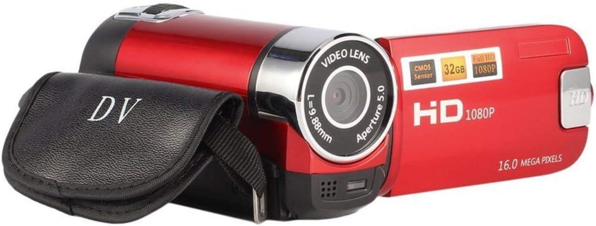 2,4 Pouces d/écran Full HD 1080P Digital TFT de lappareil Photo 16,0 Mega Pixels Capteur CMOS DV avec la lumi/ère de Remplissage LED Cam/éra vid/éo enregistreur de Ballylelly