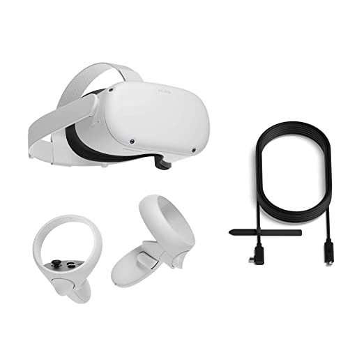 Amazon.com: Oculus Quest 2 All-In-One Virtual Reality Headset - 256 GB + Oculus Link Headset Cable: Video Games