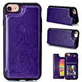 Best IKASEFU Iphone 6 Case Purples - IKASEFU iPhone 6 case,iPhone 6S case,Emboss Butterfly Floral Review