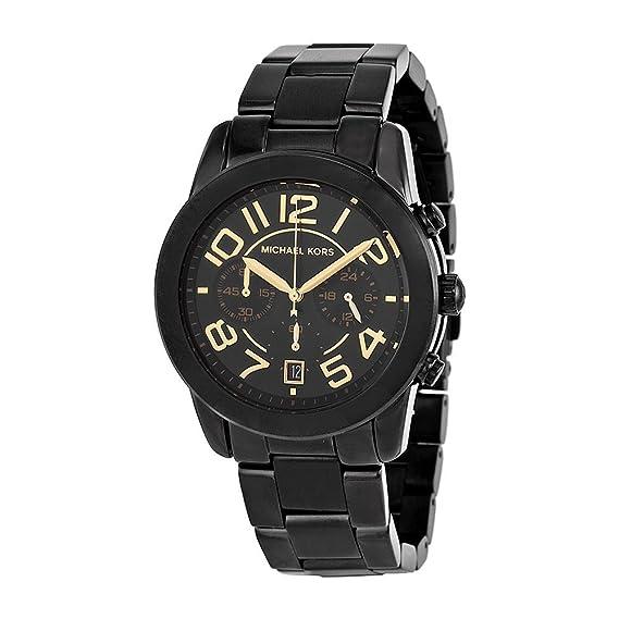 6d4ad84c282530 Michael Kors Mercer Chronograph Black Dial Black-plated Ladies Watch  MK5858: Michael Kors: Amazon.ca: Watches