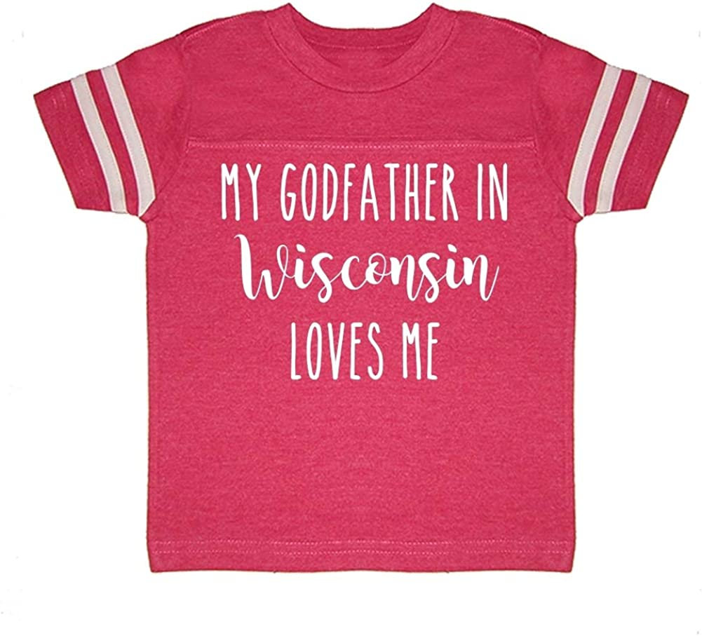 Toddler//Kids Sporty T-Shirt My Godfather in Wisconsin Loves Me