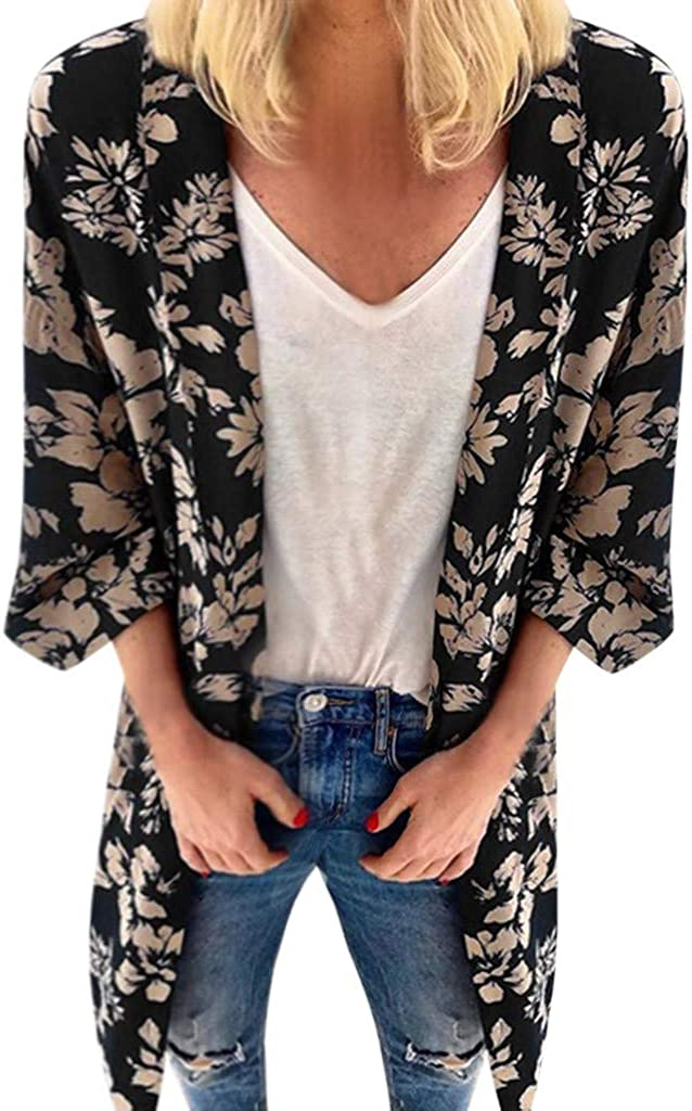DEELIN Kimono Mujer Moda De Verano ImpresióN Floral ...