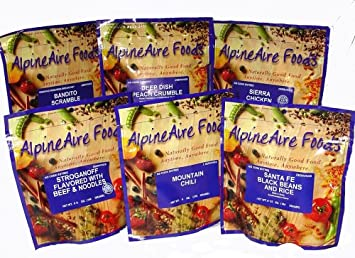 AlpineAire Foods Freeze Dried Meals Six Packages