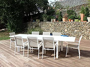 Residence - Salon De Jardin Firenze / Capri Blanc / Beige ...