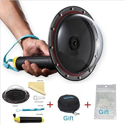 "TELESIN 6"" T03 Dome Port + Dome Cover Bag+Anti-fog Inserts for Go Pro Hero 4 3 3+ GoPro Case Accessories (Dome Port + Lens Cover)"