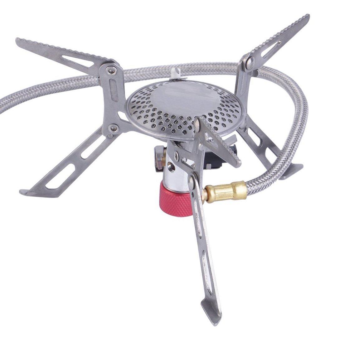 Swiftswan Mini portatile pieghevole da campeggio fornello alimentato a gas con accensione piezoelettrica