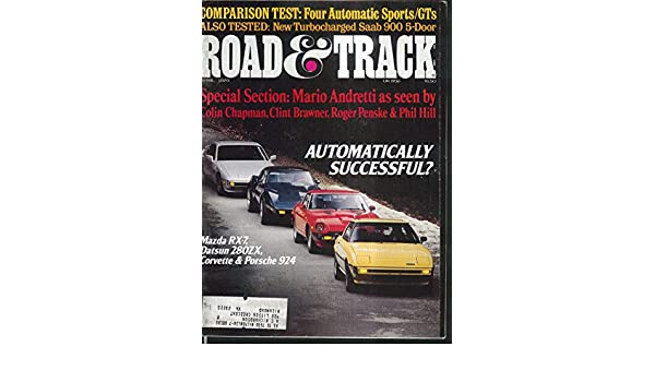 ROAD & TRACK Corvette Datsun 280ZX Mazda RX-7 Porsche 924 Saab 900 tests 4 1979 at Amazons Entertainment Collectibles Store