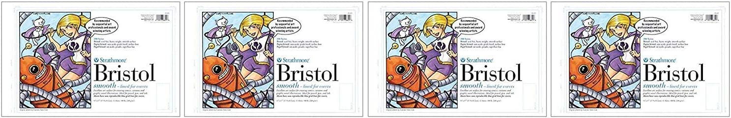 """Strathmore (25-611 STR-25-611 24 Sheet Smooth Bristol Pad, 11 by 17"""", Blue Lined: Arts And Crafts Supplies: Paintings"""