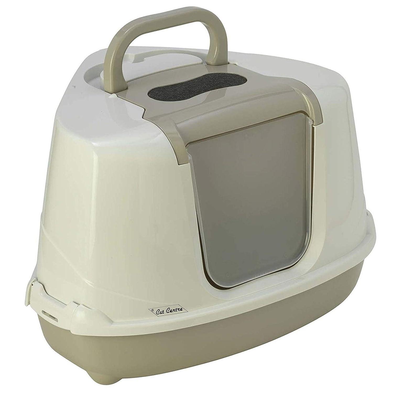 Arenero en forma de inodoro con filtro de baño, pala y cubierta, en 4 colores, para poner en la esquina: Amazon.es: Productos para mascotas