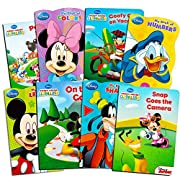 Bendon Publishing Disney Mickey Mouse My First Books Super Set (8 Shaped Board Books: Alphabet, Colors, Numbers, Shapes and Story Books)