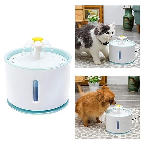 Dubleir Equipo de Suministro de Agua para Mascotas para Perros Gatos Suministro automático de Agua Tipo