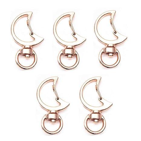 Sunhoyu 5 piezas gato luna forma llavero metal mosquetón ...