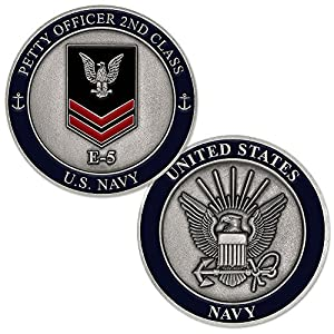 U.S. Navy Petty Officer 2nd Class E-5 Challenge Coin by Armed Forces Depot