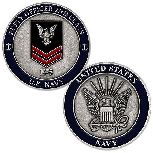 Class Challenge Coin - U.S. Navy Petty Officer 2nd Class E-5 Challenge Coin
