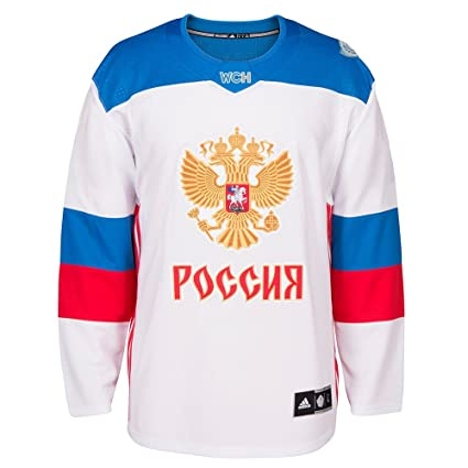 adidas Russia NHL White 2016 World Cup of Hockey Premier Away Jersey For  Men (S e4970951a
