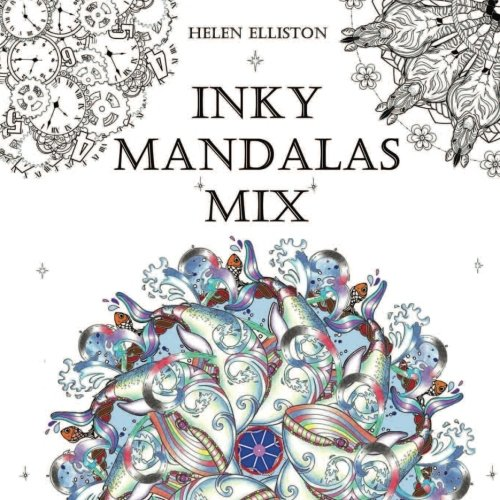 Inky Mandalas Mix: Themed Mandalas for relaxation (Inky Colouring Books) (Volume 4)