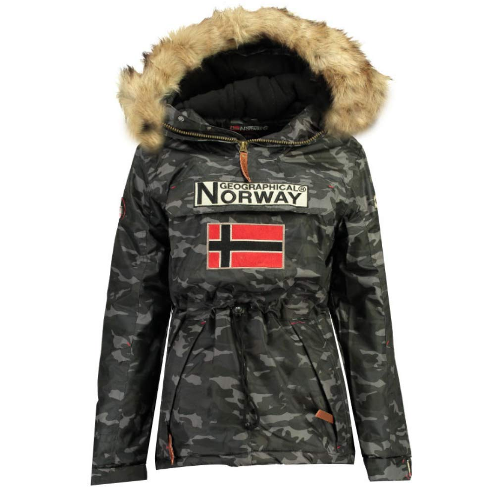 TALLA Xlarge. Geographical Norway Chaqueta de Esqui de Hombre Camuflage Negro