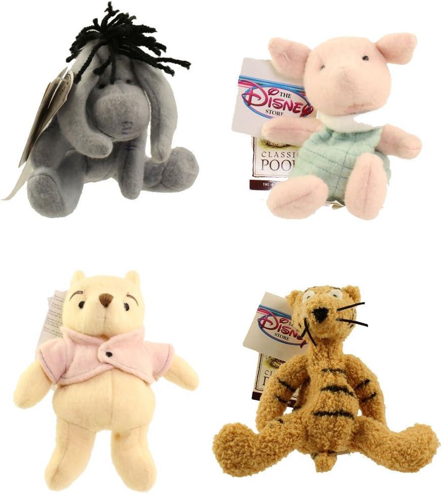 U PICK Winnie the Pooh Bean Bag Plush Dolls Vintage Disney Store w// Orig Tags