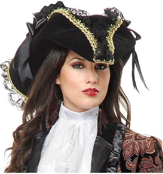 Amazon.com: Disfraz de pirata de terciopelo negro con cinta ...