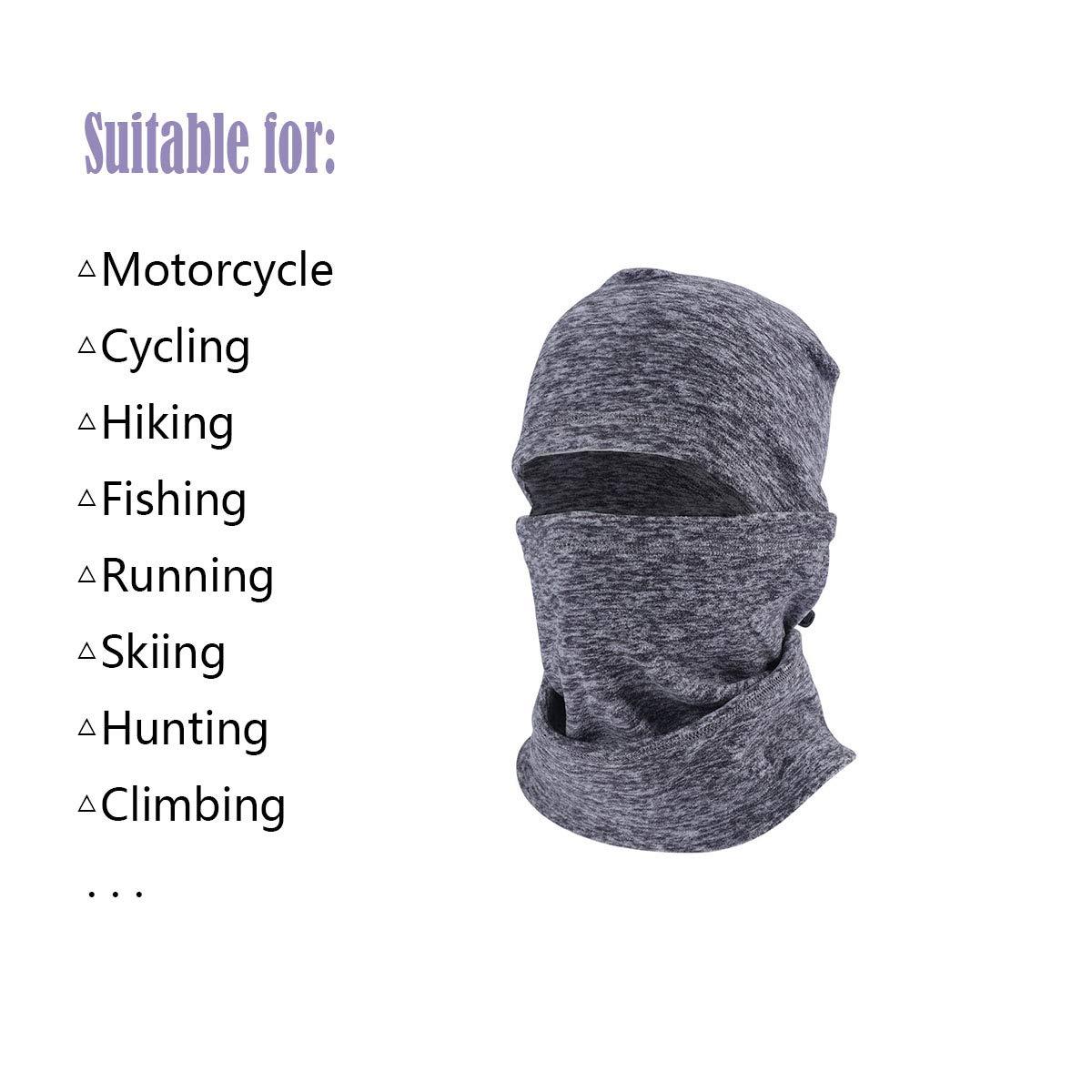 DDDW Motorcycle Full Face Mask Velcro Winter Warm Windproof Ski Balaclava Breathable Riding Headwear