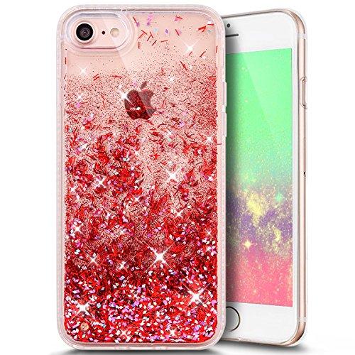 Funda Case iPhone 7 silicona,Ukayfe Carcasa Espejo iPhone 7 Mirror Case,Ultra fina de Tpu funda de silicona espejo brillante Cover Case, brillantes cristal Bling Gliter Espejo