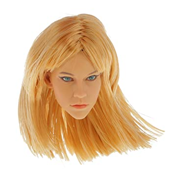 1//6 Scale Female Mannequin Head Sculpt for 12inch Phicen Kumik Hot Toys Body