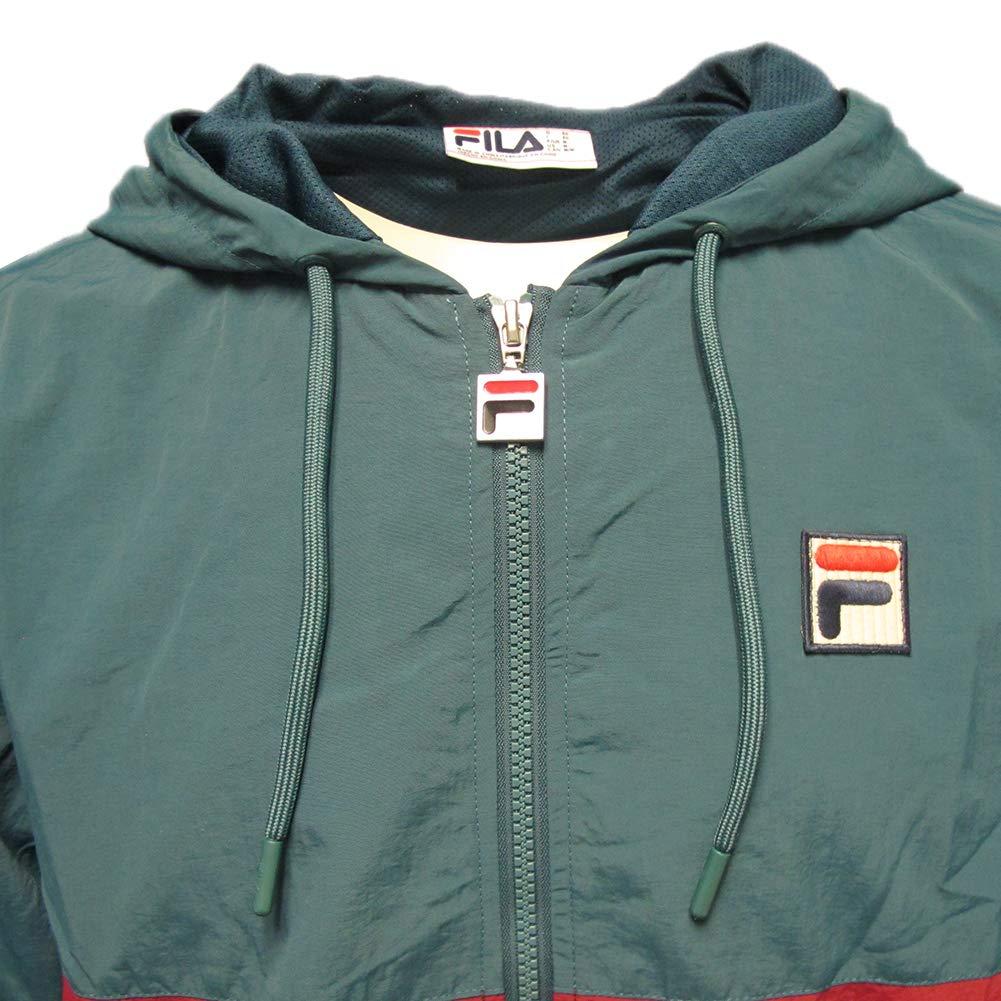 e2eced3b1fc0 Fila Vintage White Line Mens Tate Hooded Wind Jacket  Amazon.co.uk  Clothing