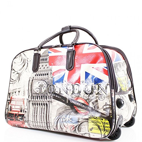 Wheel Luggage Bag Holdall BUTTERFLY With Wn009 London BLUE Large Travel Size LeahWard L Ogqx0w6f