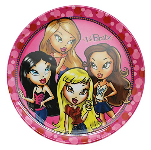 - Lil' Bratz Friends Group Pink/White Colored Kids Plate