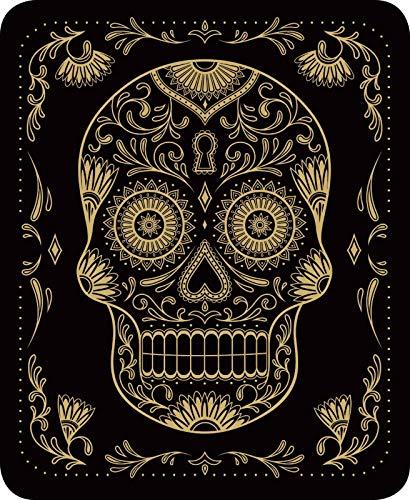 Sugar Skull Black Gold Queen Size 79