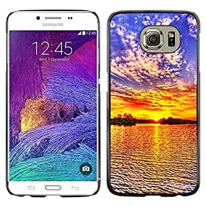 Smartphone Rígido Protección única Imagen Carcasa Funda Tapa Skin Case Para Samsung Galaxy S6 SM-G920 Sunset Sea Beautiful Nature 19 / STRONG