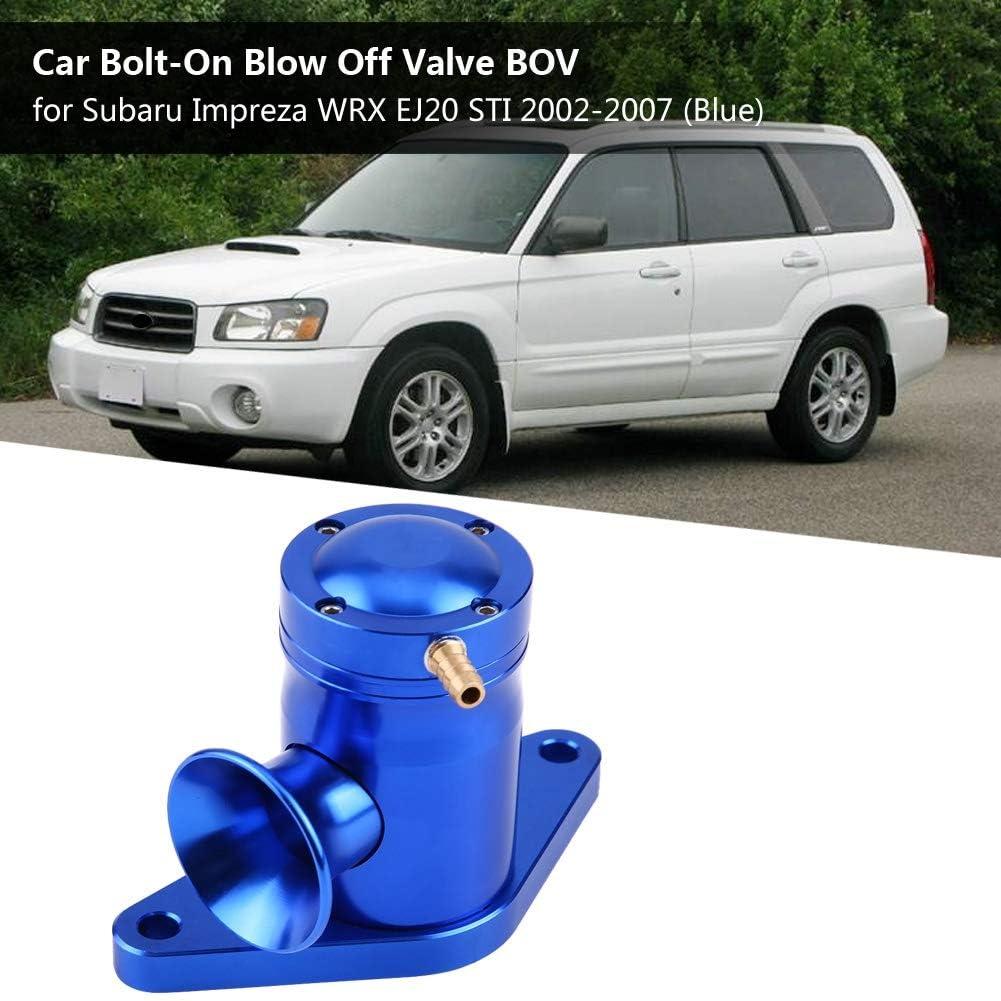 Blue Ejoyous Car Bolt-On Blow Off Valve BOV for Subaru Impreza WRX EJ20 STI 2002-2007