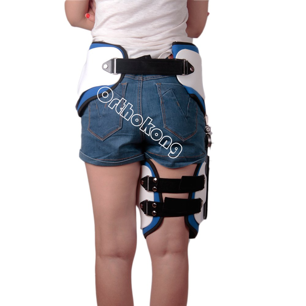 Hip Joint Dislocation Of Hip Abduction Orthosis Fixation Hinge Adjustable Waist Leg Brace Femur Injury(Both) FREE SHIPPING BY EMS ABOUT 8-10 Days by Orthokong (Image #6)