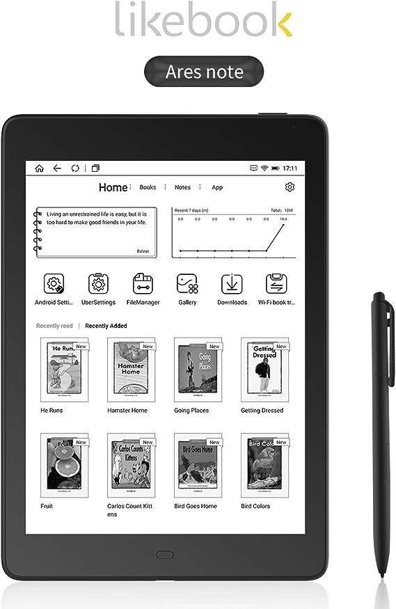 Leepesx Likebook Ares Note 7.8 pulgadas Ebook Reader Ereader HD 300PPI 2G+32G Diseño de bisel octa-core con pantalla táctil Carta/Stylus Pen/Pen Clip/3pcs Nibs Soporte WiFi BT Conexión para lectura: Amazon.es: Oficina y