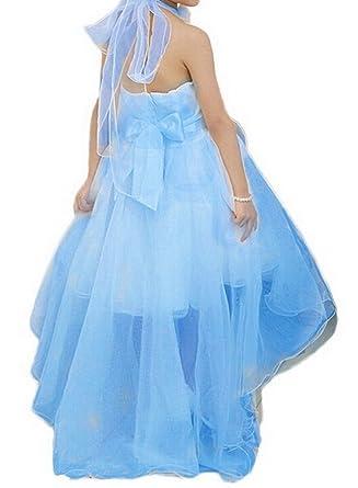 14d13656d50f4 Bigood Robe de Princesse Fille Tulle Soirée Cérémonie Mariage Epaule Nue  Mode