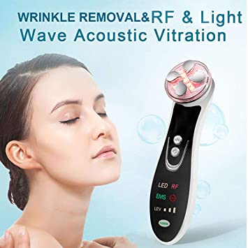 Rechargeable 4 in 1 Radio Frequency RF Anti Aging Facial Skin Lifting Beauty Machine MANDOM Barrier Repair Facial Mask Collagen