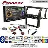 Volunteer Audio Pioneer AVH-601EX Double Din Radio Install Kit with CD/DVD Player Bluetooth USB/AUX Fits 2003-2004 Infiniti G35 (Charcoal) (Dual zone A/C controls)