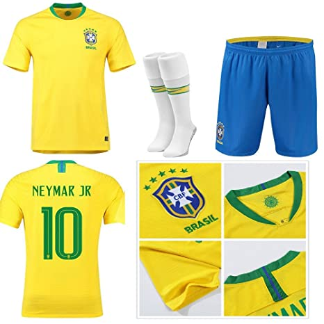 big sale 24f4f 1c1d6 Replica Brazil 2018 World Cup Kids Kits - NEYMAR JR