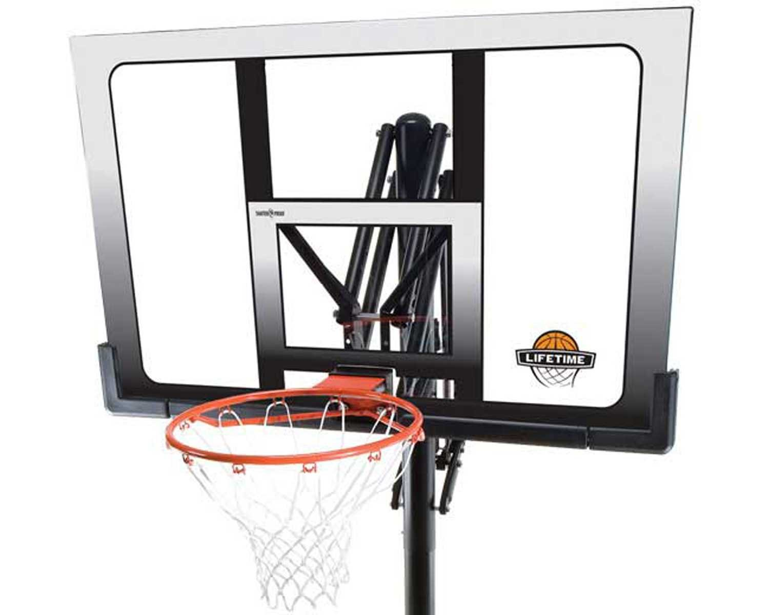 Amazon.com : Lifetime 71281 In Ground Power Lift Basketball System, 52 Inch  Shatterproof Backboard : Portable Basketball Backboards : Sports U0026 Outdoors