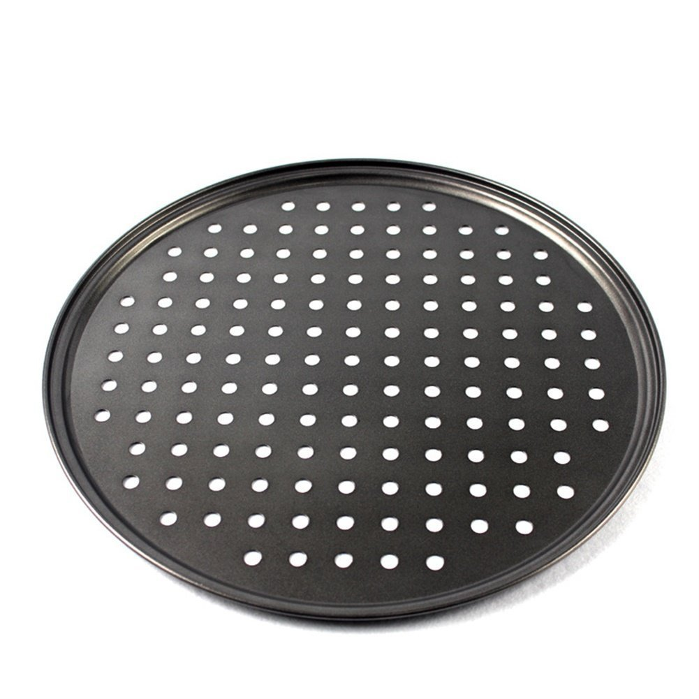Cedmon Nonstick Carbon Steel Pizza Tray Pizza Pan with Holes, 12.5 Inch