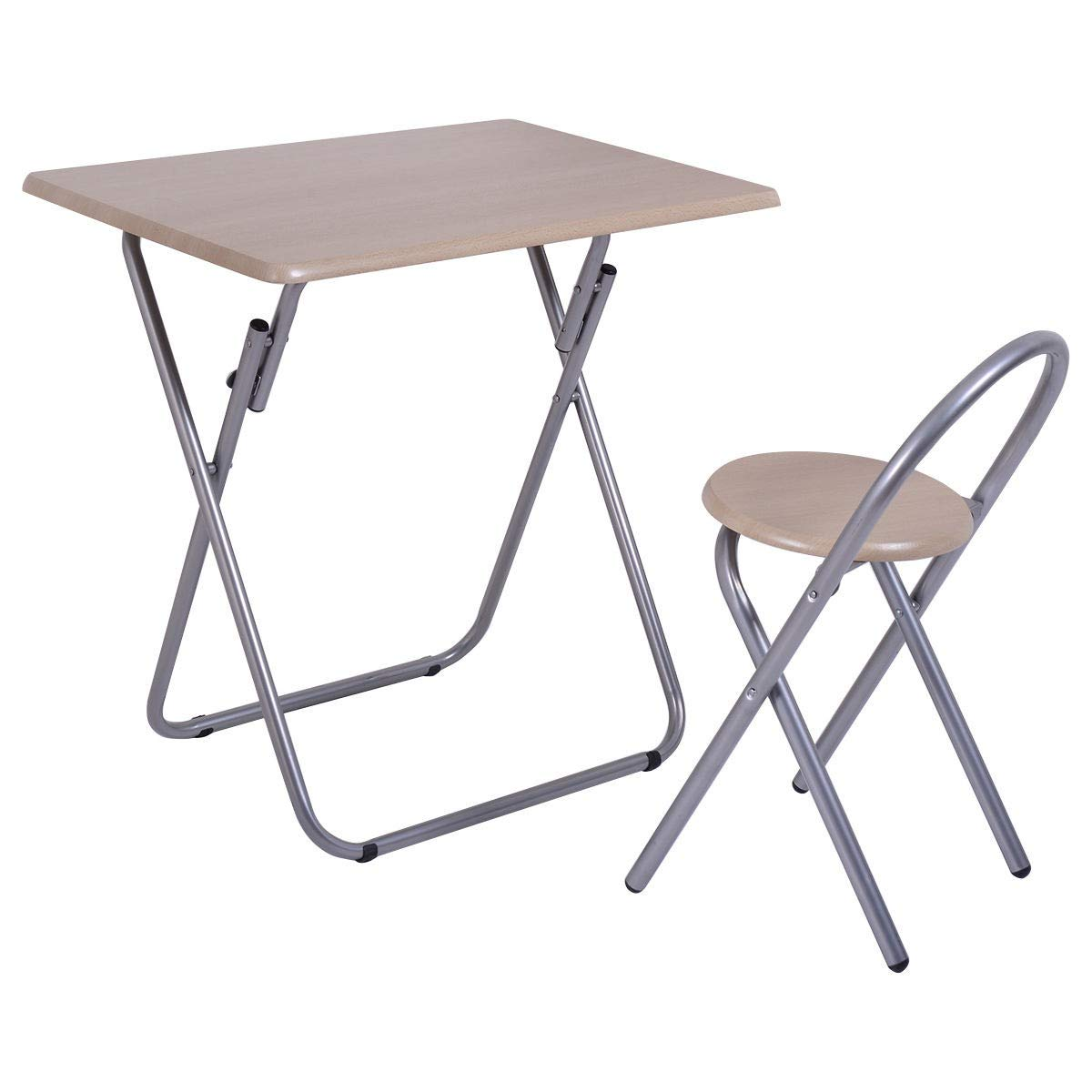 MD Group Table Chair Set Kids Folding Study Writing Desk School Children Home Student Furniture
