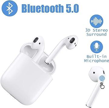 Auriculares Bluetooth Auriculares inal/ámbricos 5.0 Auriculares Bluetooth en Oreja Auricular Est/éreo inal/ámbrico en Oreja Manos Libres para Android//iPhones