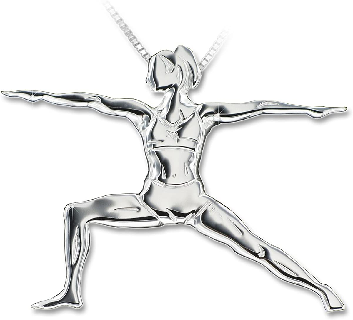 "Yoga jewellery pendant VIRABHADRASANA II ""The OFFicial site gift warrior pose wa 2"