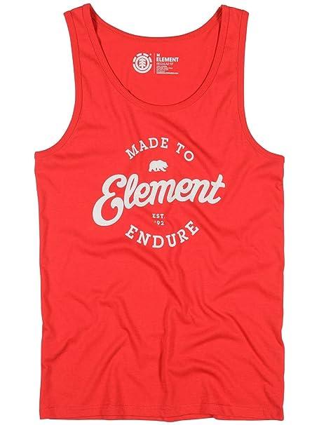 Element - Camiseta de tirantes - para hombre Element Red extra-small