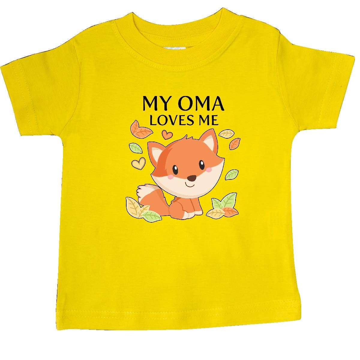 inktastic My Oma Loves Me Little Fox Baby T-Shirt