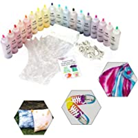 Bee-UAE 18-Color Tie-Dye Kit DIY Fabric Textile Tie-Dye Party Supplies,Safe Durable-Including 18 Bottles of Materials for Art, Paint, Crafts,Shoes Clothes Color
