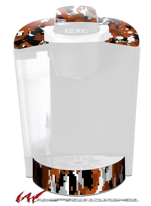 wraptorcamoデジタルカモBurntオレンジ – デカールスタイルビニールスキンFits Keurig k40 Eliteコーヒーメーカー( Keurig Not Included )   B01D6FLG4Y
