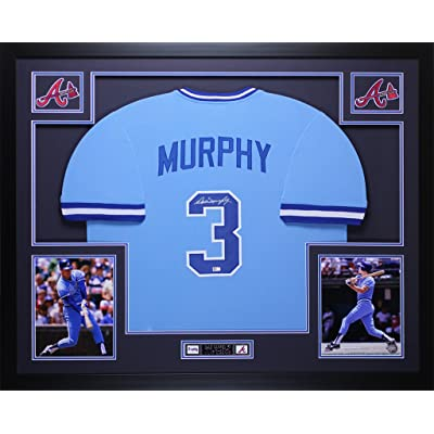 cheap for discount 1f48f 68991 Dale Murphy Autographed Blue Braves Jersey - Beautifully ...