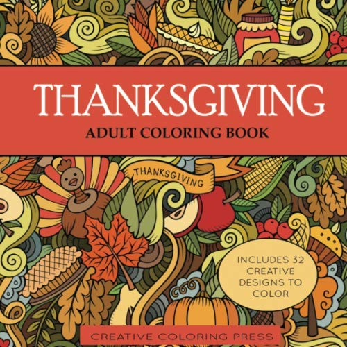 Halloween Crafts And Coloring Pages (Thanksgiving Adult Coloring Book: 32 Thanksgiving Holiday Designs Coloring Pages (Adult Coloring)