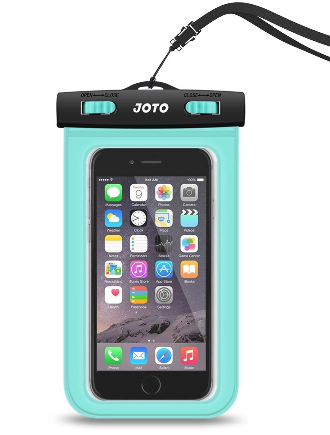 Waterproof Case, JOTO Cellphone Waterproof Dry Bag Pouch Case for Apple iPhone 6S 6,6S Plus, SE 5S 7, Samsung Galaxy S7 S6, Note 5 4, HTC LG Sony Nokia Motorola up to 6.0 diagonal (Green) Tech Vendor JOTO-007-Green